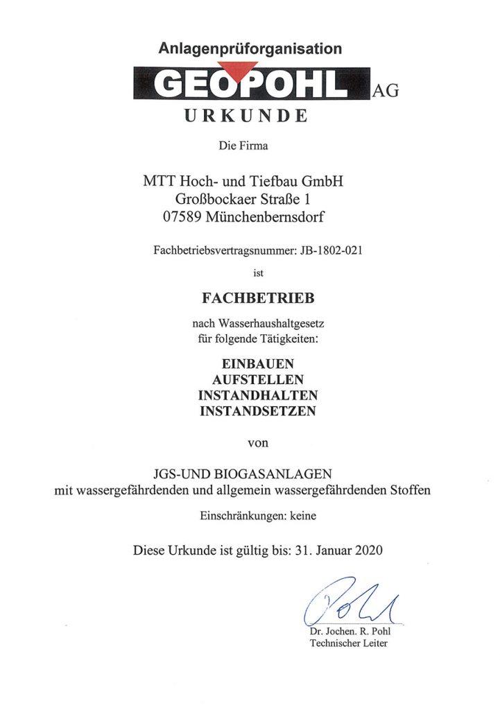 Geopohl-Urkunde-MTT