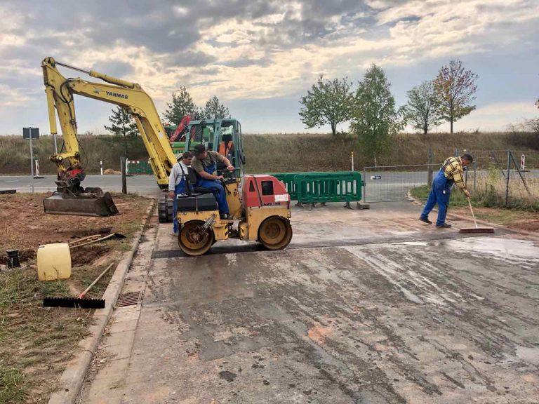 Rohrleitungsbau Trinkwasser für den Zweckverband in Pörsdorf