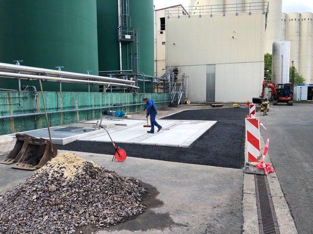 Bau von Tank- und Waschplätzen