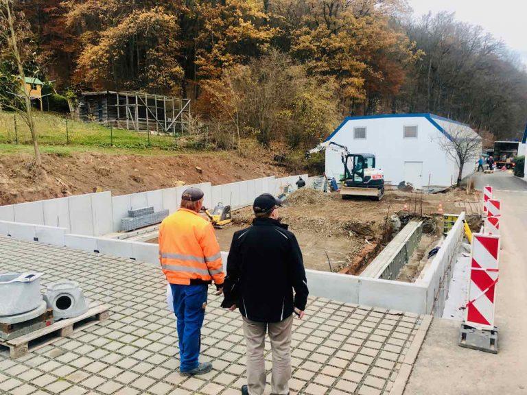 Arbeiten für Hallenneubau in Töppeln durch unsere Baufirma